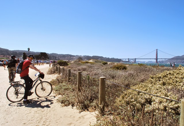 Biking to the Golden Gate Bridge in San Francisco, California | Em Then Now When